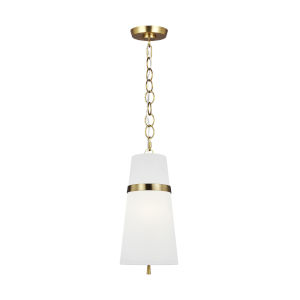 Cordtlandt Burnished Brass Eight-Inch One-Light Mini Pendant