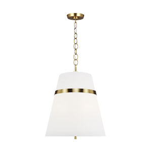 Cordtlandt Burnished Brass 18-Inch Three-Light Pendant