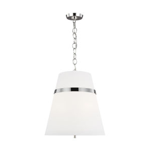 Cordtlandt Polished Nickel 18-Inch Three-Light Pendant