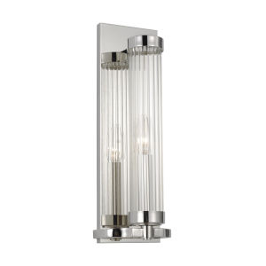 Demi Polished Nickel Five-Inch-Inch One-Light Bath Sconce