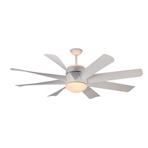 Turbine Rubberized White Four-Light 56-Inch Ceiling Fan