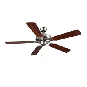 HomeBuilder I Brushed Steel 52-Inch Ceiling Fan