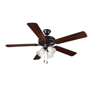 HomeBuilder III Bronze Three-Light 52-Inch Ceiling Fan