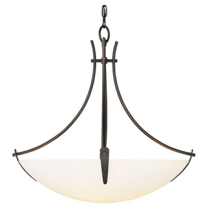Boulevard Oil Rubbed Bronze Three-Light Bowl Pendant