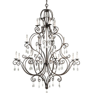 Chateau Mocha Bronze Sixteen-Light Chandelier