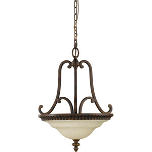 Drawing Room Walnut Two-Light Convertiable Pendant