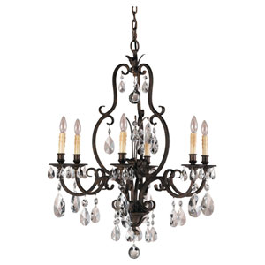 Salon Ma Mason Aged Tortoise Shell Six-Light Chandelier