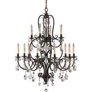 Salon Ma Mason Aged Tortoise Shell Twelve-Light Chandelier