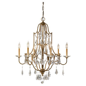 Valentina Oxidized Bronze Six-Light Chandelier