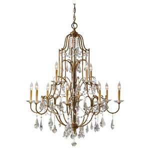 Valentina Oxidized Bronze Twelve-Light Chandelier