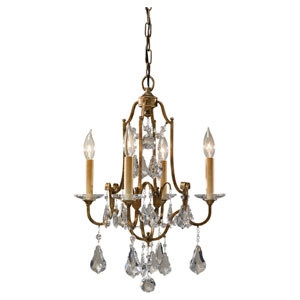 Valentina Oxidized Bronze Four-Light Chandelier