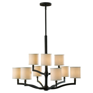 Stelle Oil Rubbed Bronze Nine-Light Chandelier