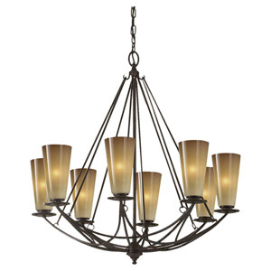 El Nido Mocha Bronze Eight-Light Chandelier