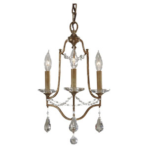 Valentina Oxidized Bronze Three-Light Chandelier