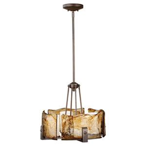 Aris Roman Bronze Four-Light Chandelier