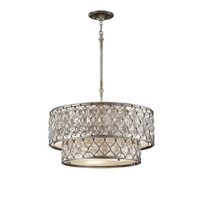 Lucia Burnished Silver Crystal Six-Light Pendant