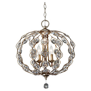 Leila Burnished Silver Three-Light Pendant