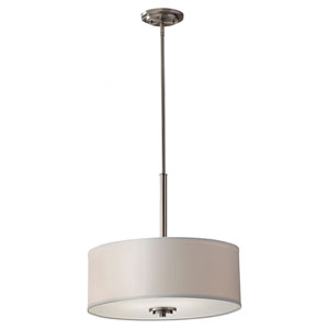 Kincaid Brushed Steel 18-Inch Three Light Pendant