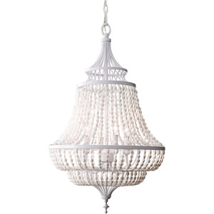 Maarid White Semi Gloss Four Light Single Tier Chandelier