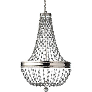 Malia Polished Nickel Eight Light Single Tier Chandelier