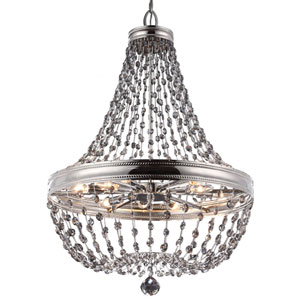 Malia Polished Nickel 12-Light Chandelier