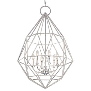 Marquise Silver Six-Light Chandelier