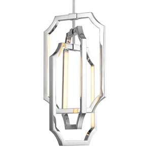 Audrie Polished Nickel Six-Light LED Chandelier