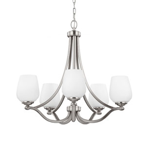 Vintner Satin Nickel Five-Light Chandelier