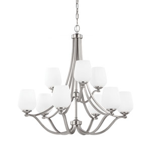 Vintner Satin Nickel Nine-Light Chandelier
