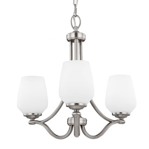 Vintner Satin Nickel Three-Light 19-Inch Wide Chandelier