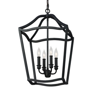 Yarmouth Antique Forged Iron Four-Light Pendant