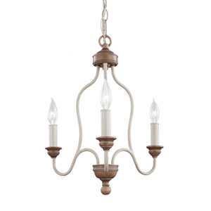 Hartsville Chalk Washed Three-Light Chandelier