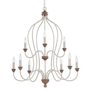 Hartsville Chalk Washed Nine-Light Chandelier