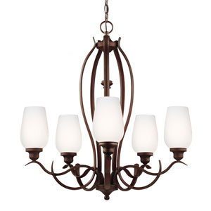 Standish Oil Rubbed Bronze with Highlights Five-Light Chandelier