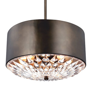Botanic Dark Aged Brass Four-Light Pendant