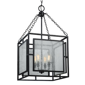 Prairielands Dark Weathered Zinc Four-Light Chandelier