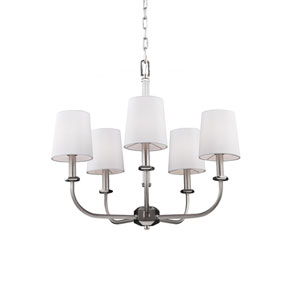 Pentagram Satin Nickel Five-Light Chandelier