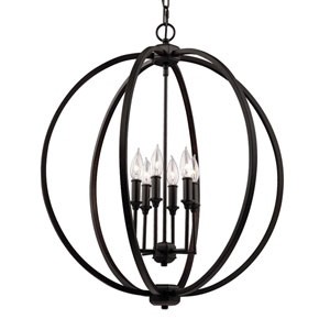 Corinne Oil Rubbed Bronze Six-Light Pendant