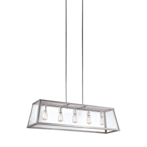 Harrow Polished Nickel Five-Light Pendant