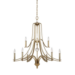 Evington Sunset Gold Nine-Light Chandelier