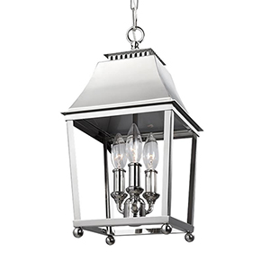 Galloway Polished Nickel 8.5-Inch Three-Light Pendant