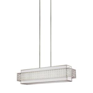 Kenney Sunrise Silver Five-Light Linear Pendant