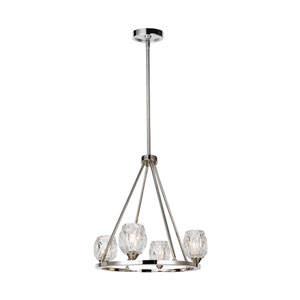 Rubin Polished Nickel Four-Light Chandelier