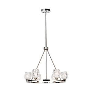 Rubin Polished Nickel Six-Light Chandelier