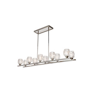 Rubin Polished Nickel Ten-Light Island Pendant