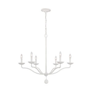 Annie Plaster White Six-Light Chandelier