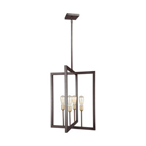 Finnegan New World Bronze 21-Inch Four-Light Chandelier