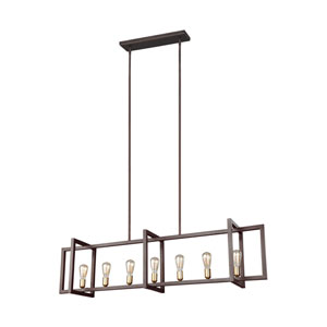 Finnegan New World Bronze 12-Inch Seven-Light Island Pendant