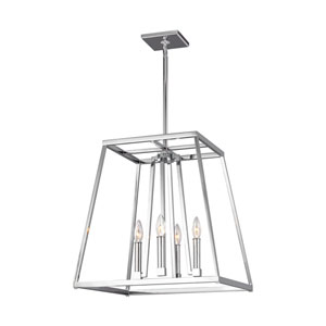 Conant Chrome 18-Inch Four-Light Pendant