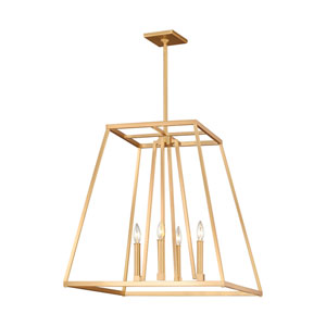 Conant Gilded Satin Brass 23-Inch Four-Light Pendant